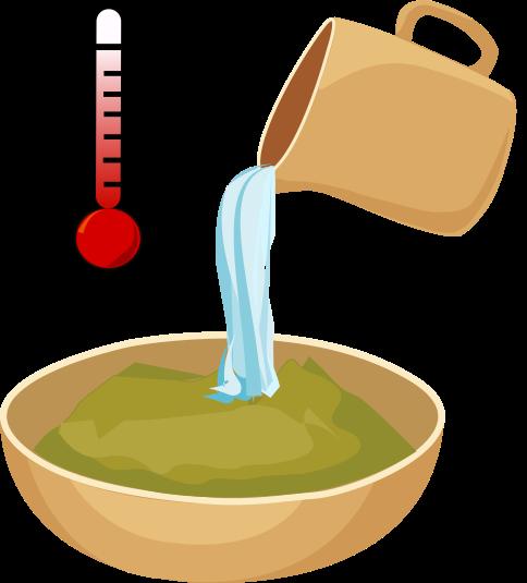 añade agua a la henna